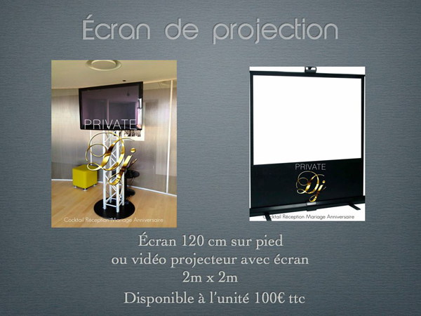 écran PRIVATE DJ 600X450